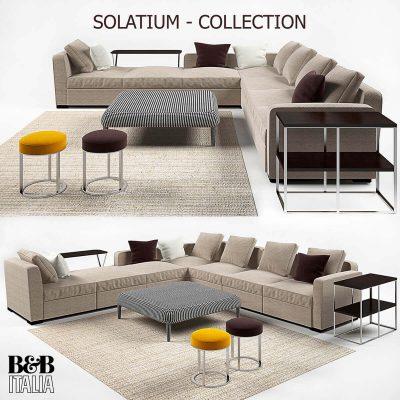 B&B Italia Solatium Sofa 3D Model