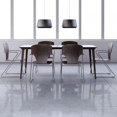 STUA Lau Table & Egoa Chair Set 3D Model