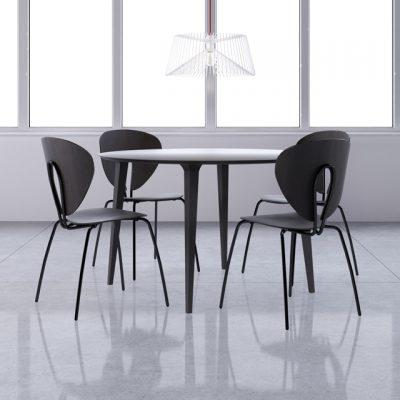 STUA Lau Table & Globus Chair Set 3D Model