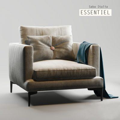 Saba Italia Essentiel Armchair 3D Model