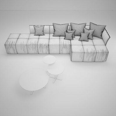 Saba Pixel Sofa 3D Model