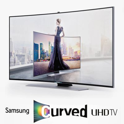 Samsung Curved UHD TV 3D model (1)