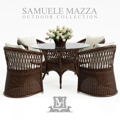 Samuele Mazza Vega Table & Chair 3D Model
