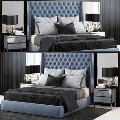 Sandringham Winged Bed 3D Model