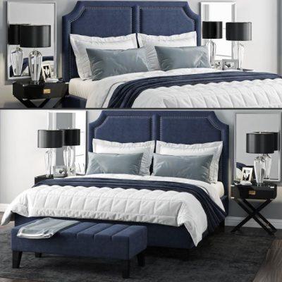 Sanibel Queen Upholstered Bed 3D Model