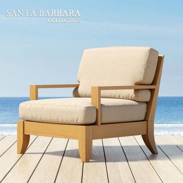 Santa barbara outdoor furniture 3d model for download for Outdoor furniture 3d model