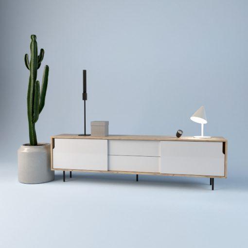 Scandinavian Sideboard & Chest of Drawers 3D Model