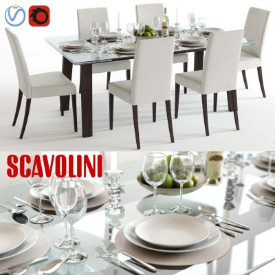Scavolini Freetime Table and Chair 3D model