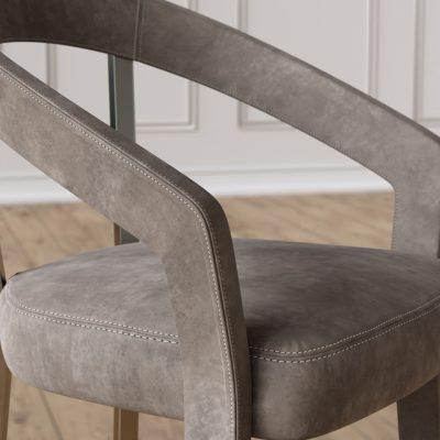 Schubert Frances Table & Chair 3D Model 3