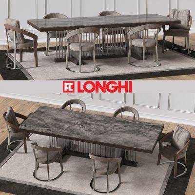 Schubert Frances Table & Chair 3D Model