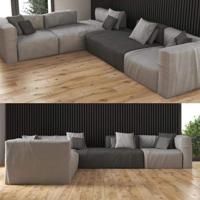 Scotch Big Sofa 3D Model