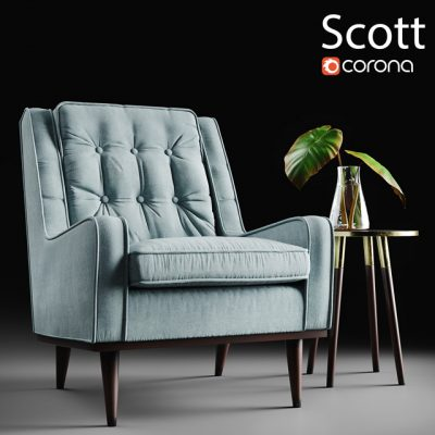 Scott Armchair 3D Model