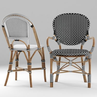 Serena And Lily Table & Chair 3D Model 3