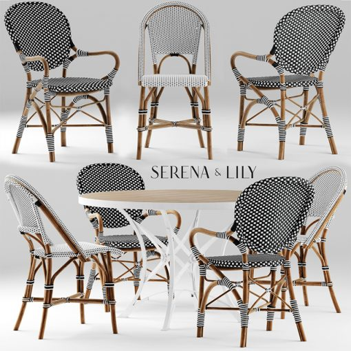 Serena And Lily Table & Chair 3D Model