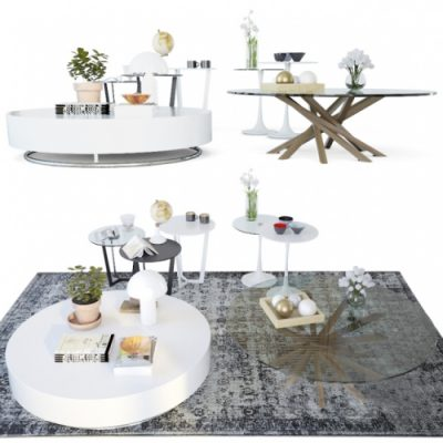 Set coffee tables Sattelan Italia 2
