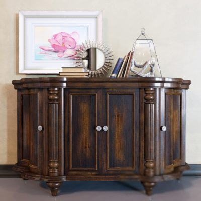 Shaped Credenza Sideboard 3D Model