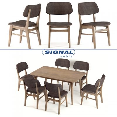Signal Stol Styl Table & Chair 3D Model