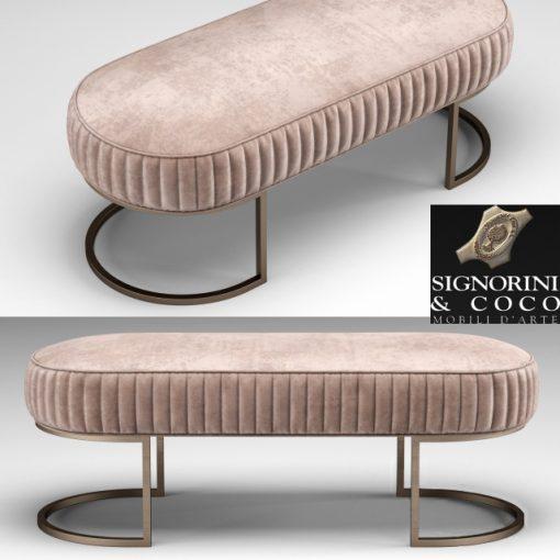 Signorini & Coco Bubble Bench 3D Model
