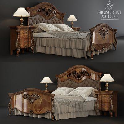 Signorini & Coco- Portofino Laccato Bed 3D Model