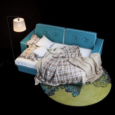 Silvo Bed 3D Model