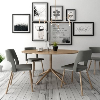 Simple Dining room 3D model
