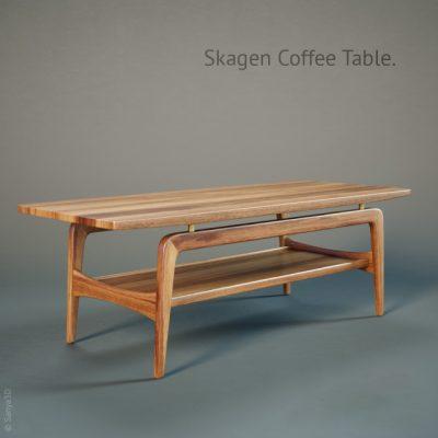 Skagen Coffee Table 3D Model