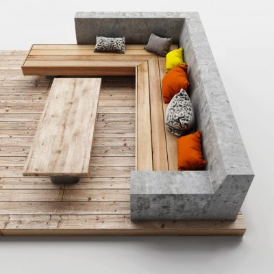 Skamya-112 Outdoor Sofa 3D Model
