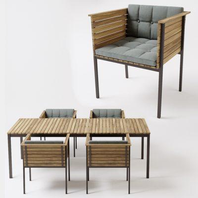Skargaarden Haringe – Table & Chair 3D Model