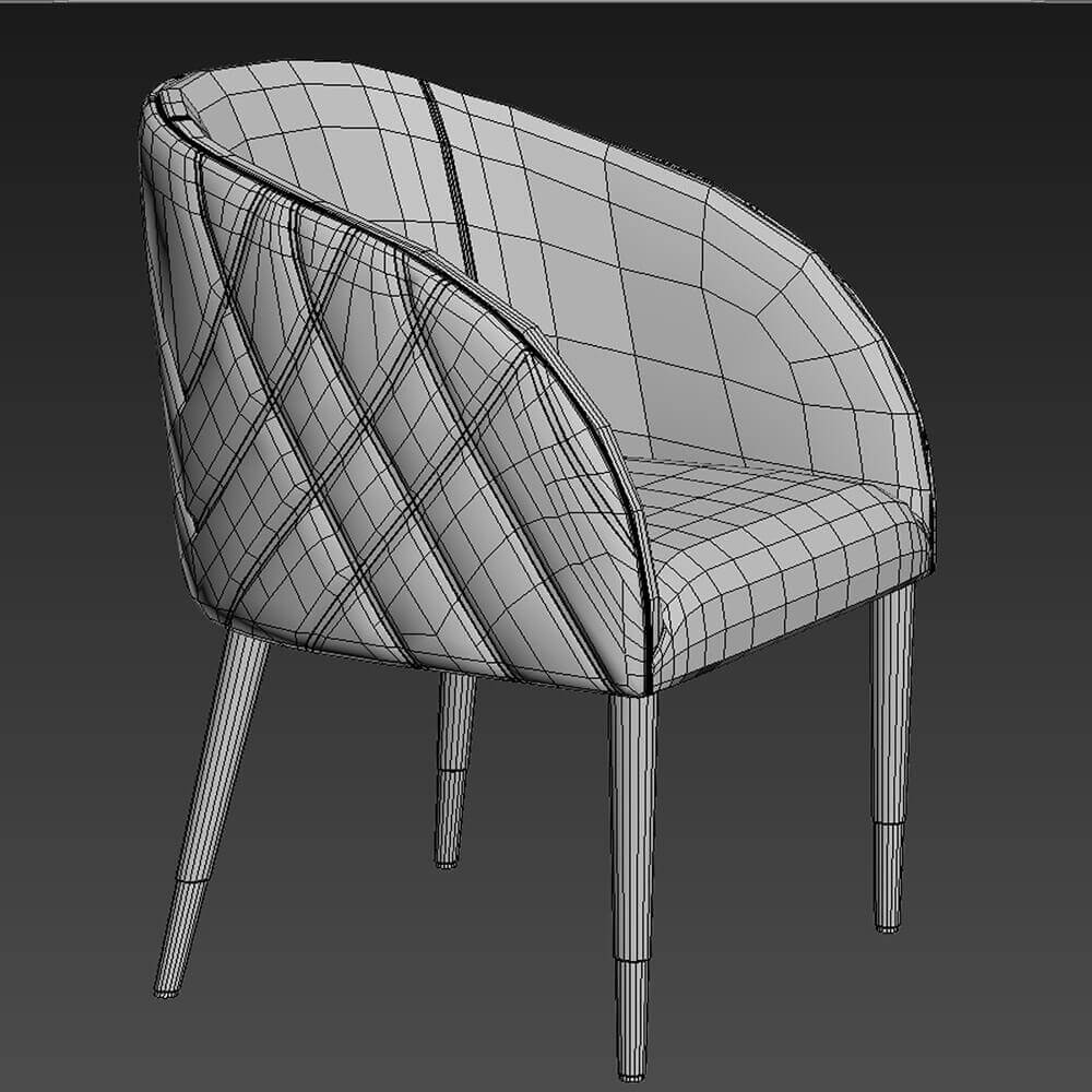 Smania Amal table and chair 3D model (3)