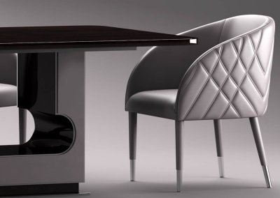 Smania Amal table and chair 3D model (6)