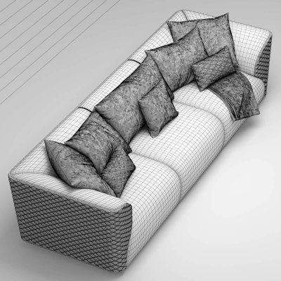 Sofa Bentley Home Winston Sofa 3D model (3)