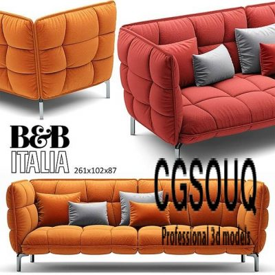 Sofa HUSK BB Italia 3D model (1)