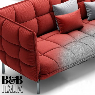 Sofa HUSK BB Italia 3D model (2)