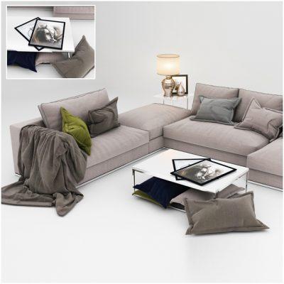 Sofa Set-09 3D Model