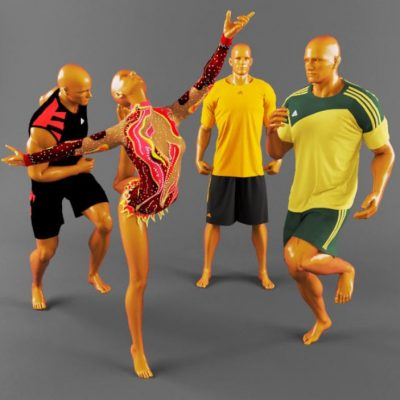 Sports Uniforms 3D Model
