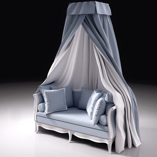 Squab Sofa 3D Model 2