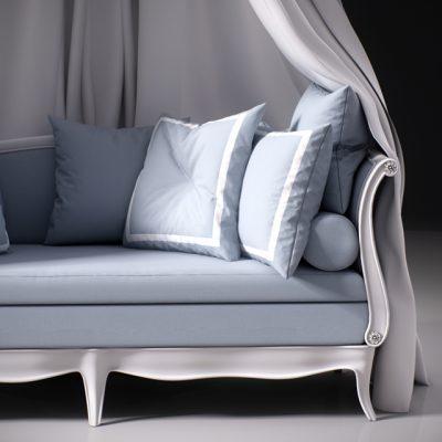 Squab Sofa 3D Model 3