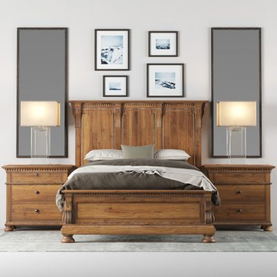 St James Panel Bed 3D Model