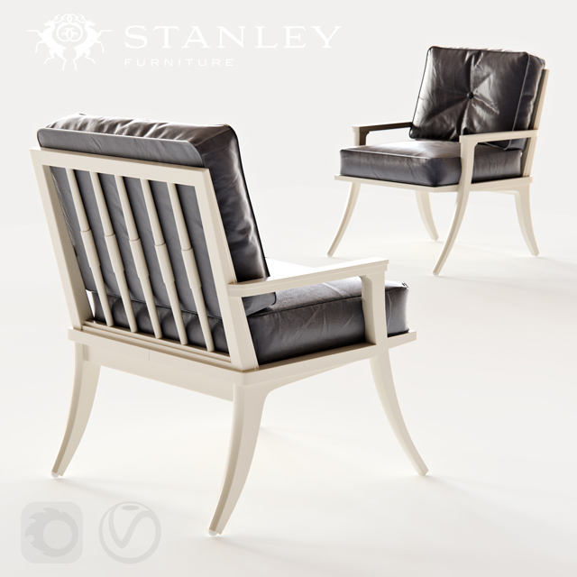 Stanley Furniture Crestaire Lena Accent Chair 3D Model 2