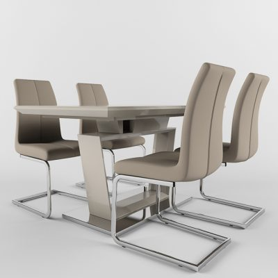 Stella Table & Blake Chair 3D Model