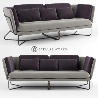 Stellar Works Chillax Sofa 3D Model