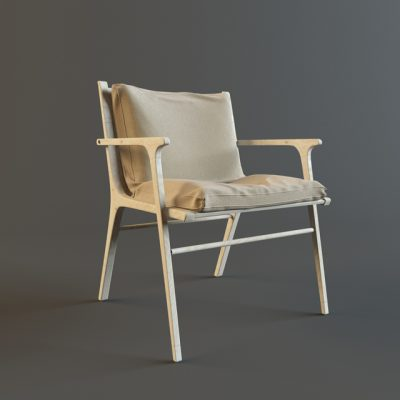 Stellar Works Ren Dining Table & Chair 3D Model