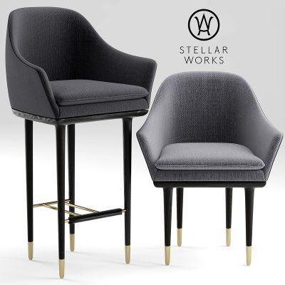Stellar Works Table & Chair 3D Model