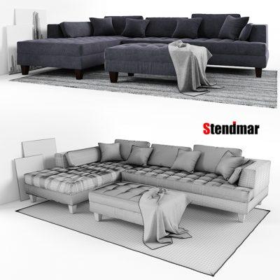 Stendmar S168LDG Sofa Set 3D Model