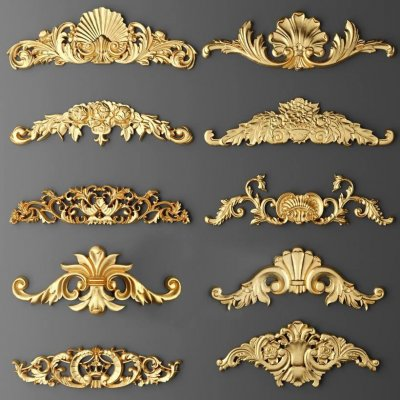 Decorative Plaster Stucco molding 10 3D model