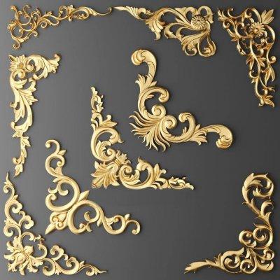 Decorative Plaster Stucco molding 11 3D model