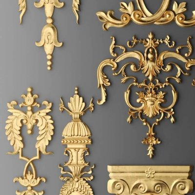 Stucco molding details 3D model (2)