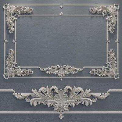 Stucco molding frame 6 3D model