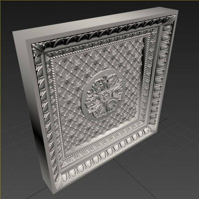 Stucco molding frame 8 3D model 3
