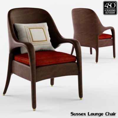 Sussex Outdoor Lounge Chair 3D Model